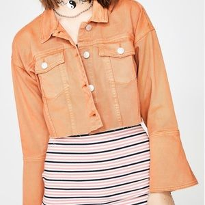 Dolls kill orange jacket bell sleeve